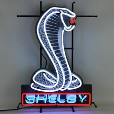 Neon Sign - Shelby Mustang Snake w/ Backing * High Quality! Free USA Shipping!