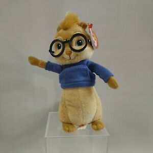 "TY Beanie Baby Simon Chipmunk Alvin and the Chipmunks Bean 7"" Plush"