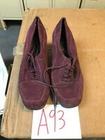 Clarks 80895 Purple Suede Leather Lace Up Booties Women's Size 7.5M