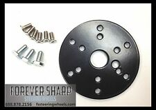 """1/4"""" Black Spacer for 3 Hole Steering Wheel to fit 6 hole MOMO, FS, APC Adapter"""
