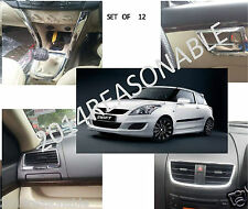 INTERIOR CHROME SET OF 12 PCS FOR MARUTI SUZUKI SWIFT NEW / ERTIGA / DEZIRE NM