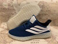 New Mens Adidas Sobakov Legend Marine Cloud White BD7562 Size 9 or 8.5 Free Ship