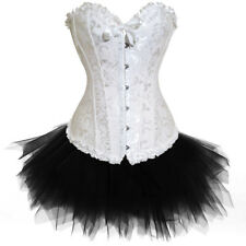 Women Lady Haloween Outfit Lace Up Basque Corset and Tutu Sets Halloween Costume