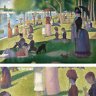"""45W""""x30H"""" SUNDAY AFTERNOON ON ISLAND OF LA GRANDE JATTE by GEORGES SEURAT CANVAS"""