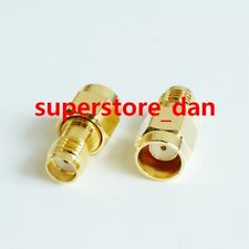 1X Quick RP-SMA male plug no screw to SMA female PUSH ON RF adapter connector