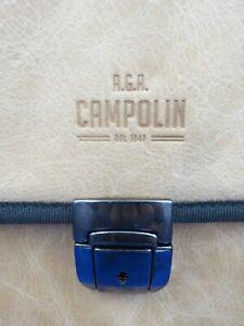 A.G.A. Campolin Knife bag GLOVE LEATHER KNIFE HOLDER/FOLDER WITH LOCK TAN LEATHE