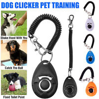 Pet Dog Training Clicker  Puppy Button Click Trainer Obedience Aid Wrist ABS
