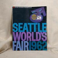 1962 Seattle Washington World's Fair Century 21 Exposition Souvenir Program