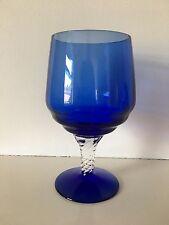 Vintage Blue Art Glass - approx 16cm tall