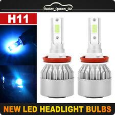 2x H11 55W 8000LM CREE LED Headlight Kit High Low Light Bulb Car 8000K Ice Blue