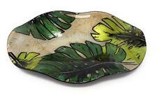 Dekoteller Leaves Blätter 23x17cm grün Glas Formano F18