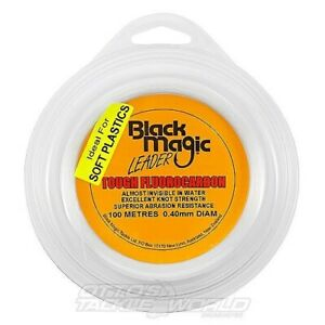 Black Magic Tough Fluorocarbon Fishing Leader Line