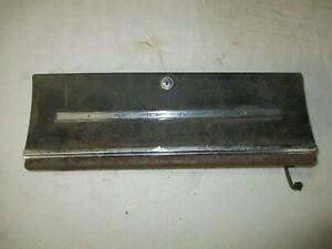 1966 66 Chevrolet Impala Glove Box Door Hinge Assembly + Impala Emblem