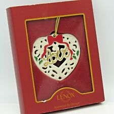 Lenox Heart Shaped Reticulated Love Christmas Ornament In Box (1Zri)