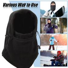 2pcs Winter Warm Fleece Balaclava Full Neck Face Mask Thermal Motorcycle Ski Hat