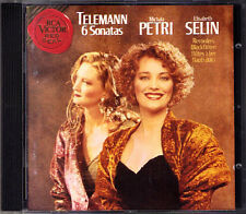 Michala Petri & Elisabeth Selin: Telemann 6 Sonatas for 2 REGISTRATORE CD blocco flauto