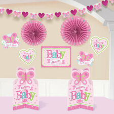 It's a Girl Pink Decorating Kit for Baby Shower  - 10 Piece Decorating Set