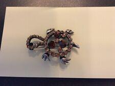 Diamanté turtle brooch