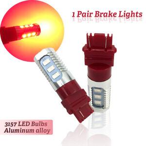 1 Pair 3157 LED Flashing Strobe Light Bulb Red Rear Safety Brake Shift Stop Lamp