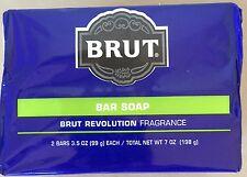 BRUT BAR SOAP Revolution Fragrance For Men 2 Bars - 3.5oz Each USA Made NEW