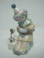 """LLADRO """"PIERROT WITH CONCERTINA"""" CLOWN with ACCORDION & DOG 5279"""