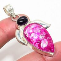 Amazing Crack Crystal, Amethyst Handmade Jewelry Pendant 2.17'' RJ