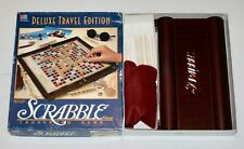 1990 Deluxe Travel Edition Scrabble Game 100% Complete Mini Wood Letters