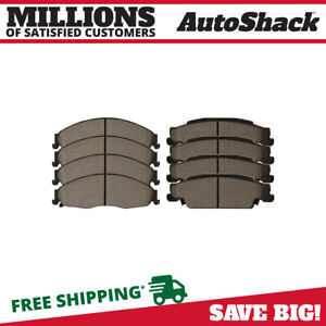 Front Rear Ceramic Brake Pads for 2005-2008 Pontiac Grand Prix STS 2003-2007 CTS