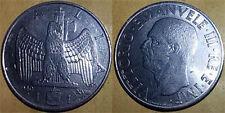 VITTORIO EMANUELE III  1 LIRA AQUILA IMPERO 1940 XVIII MAGNETICO  SPL
