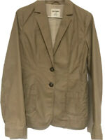 Old Navy Women's Blazer Jacket Size Small Tan Brown Cotton Stretch