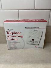 RADIO SHACK VINTAGE Digital Telephone Answering Machine 43-3808 White.