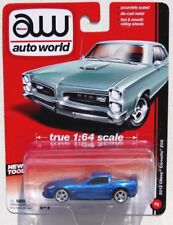AUTO WORLD 2012 CHEVY CORVETTE ZO6 #2 Blue True 1:64 NEW TOOL B