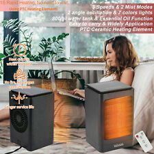 Us 1500W Space Heater, Home Offic Electric Oscillating Heater Over-Heat Protect
