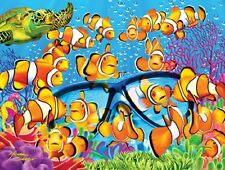 Jigsaw puzzle Animal Fish Curious Clownfish Glow in the dark 300 piece NEW