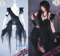 Lolita Nana CYBER PUNK GOTHIC SEXY One Shoulder Dress COVER 21079 Black S~L