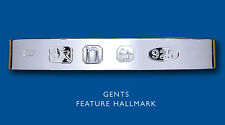 Hallmark Torque Bangle Men's Solid Sterling Silver Gents Cuff Bracelet