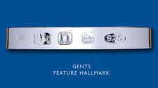 Hallmark Torque Bangle Men's Solid Sterling Silver Gents Cuff Bracelet