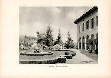 Stampa antica ZELATA di BEREGUARDO Villa Pirola Pavia Grossi 1933 Old print