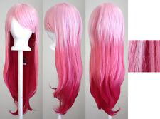 28'' Long Straight Layered Fade Pink Inori Yuzuriha Ver. 2 Cosplay Wig