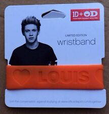 Office Depot ONE DIRECTION Limited Edition Rubber Wristband Louis Orange 1D+OD