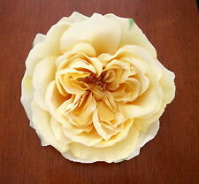 "5.5"" Yellow Rose Silk Brooch Pin,Lapel,Scarf,Rockabilly"