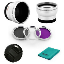 0.45x wide angle + 2.0x tele + CPL UV FLD + CAP + CLOTH for Panasonic PV-GS320
