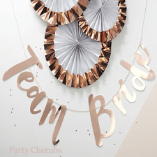 Hen Party - Team Bride Garland - Rose Gold Lettering  Hen Party Decoration