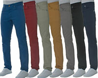 Men's New ENZO Slim Fit Jeans Designer Trousers Chinos Pants All Size