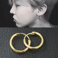 Fashion Sterling Silver Gold Endless Hoop Rings Lip Nose Ear Studs Earrings  O