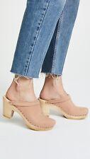 NO. 6 Old School Platform High Heel Clog SZ 38 Pink Sand CURRENT STYLE Sold Out