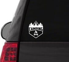 H127 Camping Fire Tent camp outdoors vinyl decal car sticker
