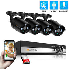Jennov POE Security Camera System HD 5MP 4channels IP Bulllet Camera and Nvr kit
