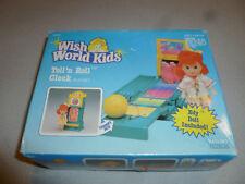 NEW IN BOX WISH WORLD KIDS TOLL N ROLL  CLOCK KENNER EDY DOLL PLAYSET 1988 NIB >