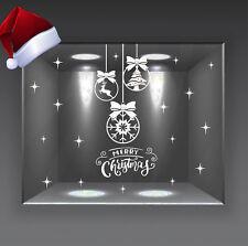 adesivi vetrine palle di natale natalizie vetrofanie wall stickers stelle a0677